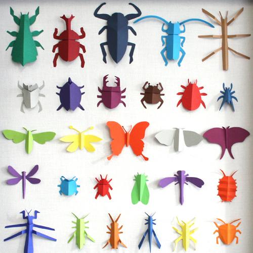 Insectes Livre Origami